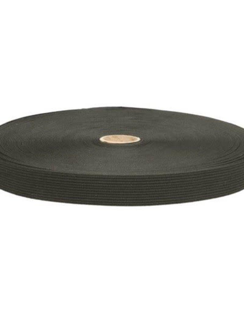 Elastiek zwart soepel 15 mm