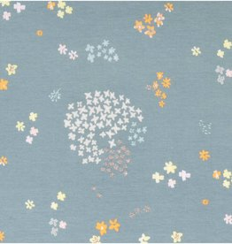 Rico design Flowers grey glitter