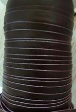 Biais leder donker bruin