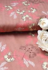 Rico design Dubbel gaas met bloemen