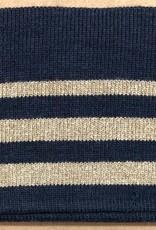 Cuff blauw met gouden streep