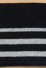 Cuff zwart met zilver streep