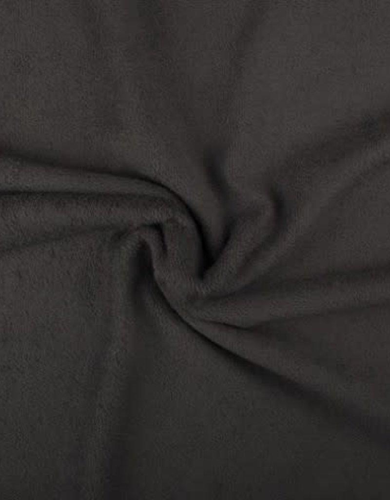 Badstof donker grijs dubbel gelust