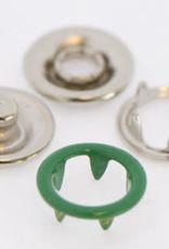 Baby drukkers 9 mm /12 stuks groen