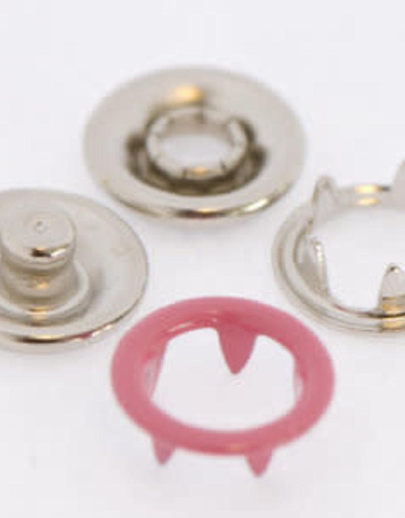 Baby drukkers 9 mm /12 stuks roze