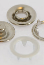 Baby drukkers 9 mm /12 stuks wit