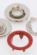 Baby drukkers 9 mm /12 stuks rood