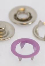 Baby drukkers 9 mm /12 stuks lila