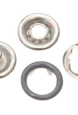 Baby drukkers 9 mm /12 stuks grijs