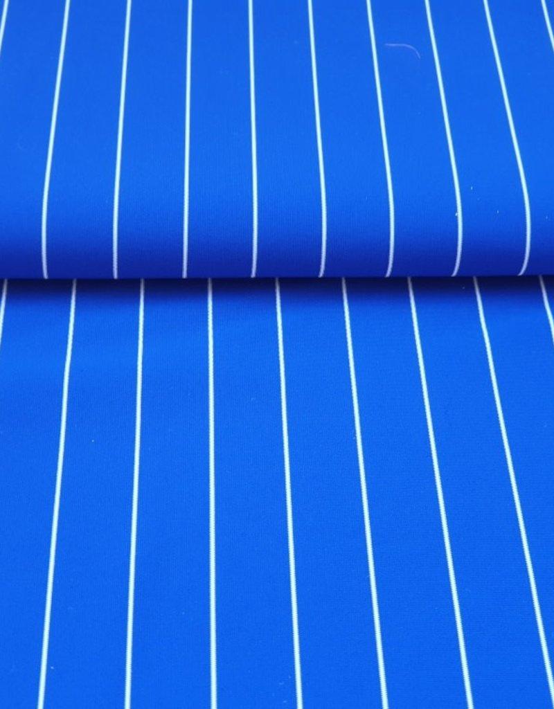 Lycra gestreept blauw