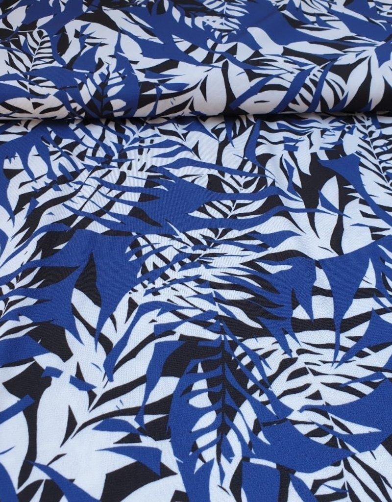 Lycra blauw blad