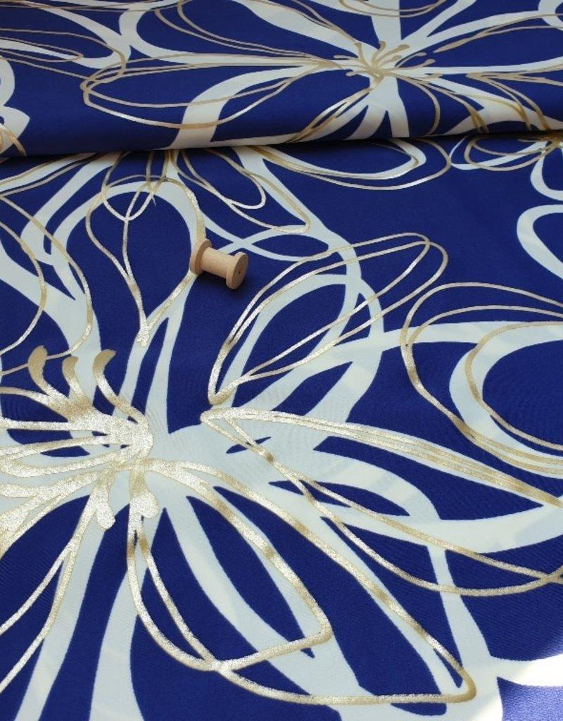 Lycra bloem goud
