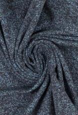 gespikkelde tricot, licht/donker blauw