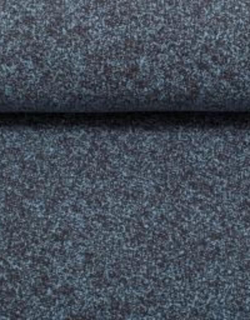 Gespikkelde tricot, lichtblauw/donker grijs