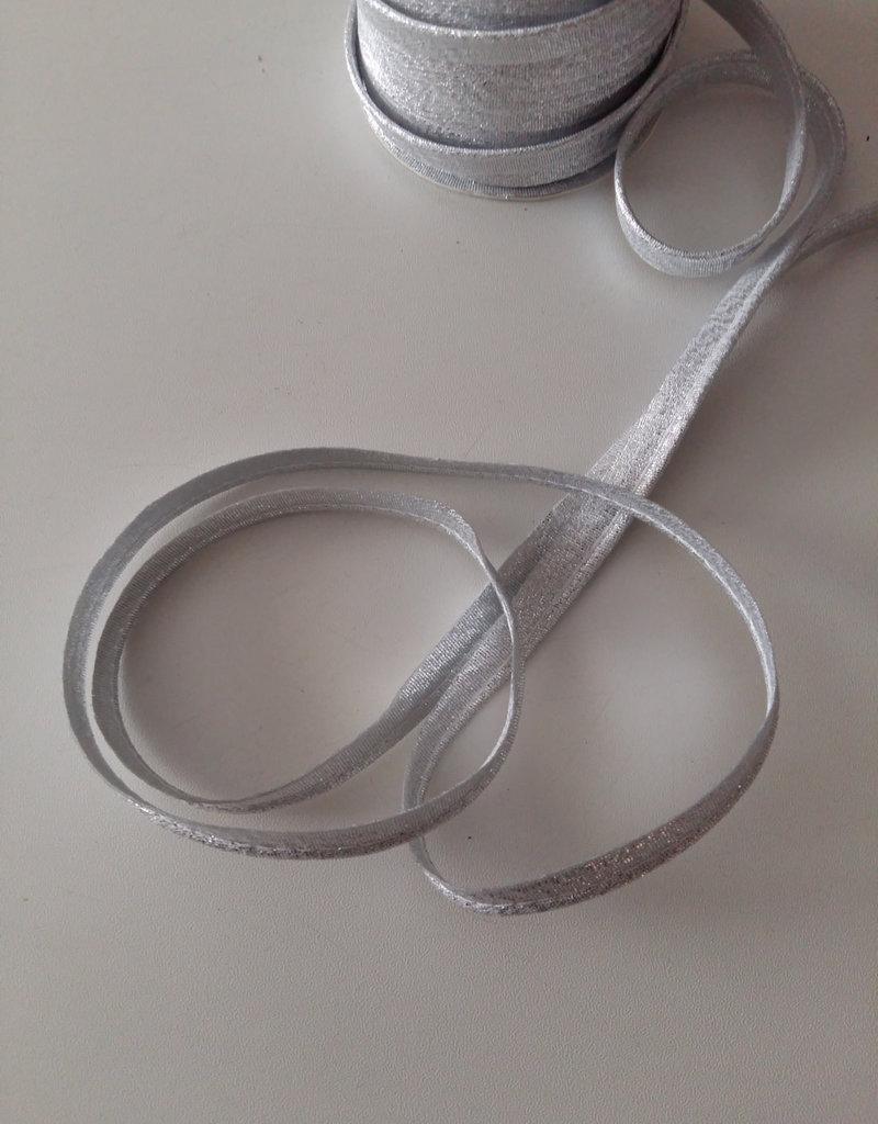 Paspel lint glitter zilver
