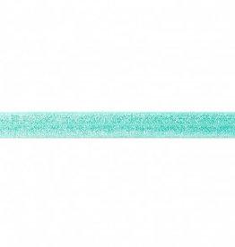Biaislint elastisch glitter mint