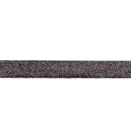 Glitterband  donker grijs