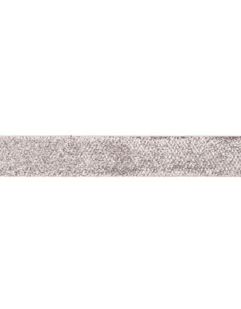 Glitterband  zilver