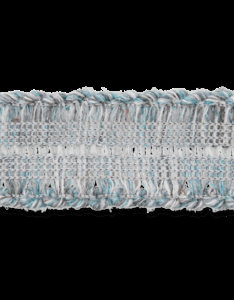 Gebreid lint blauw/grijs