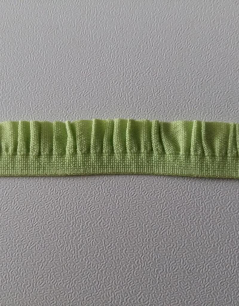 Elastisch lintje met een rouche groen