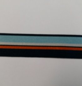 Ripsband blauw streep