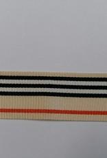 Ripsband beige streep