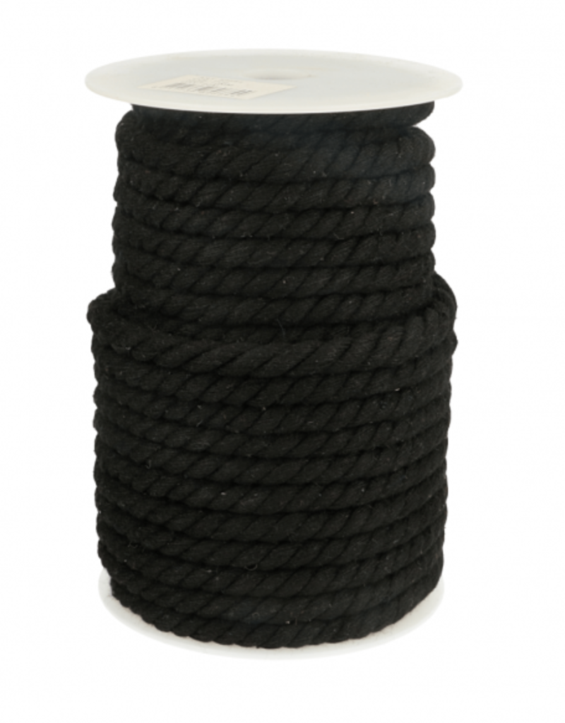 Gedraaid touw zwart