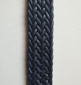 Gevlochten band donker blauw