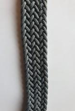 Gevlochten band grijs