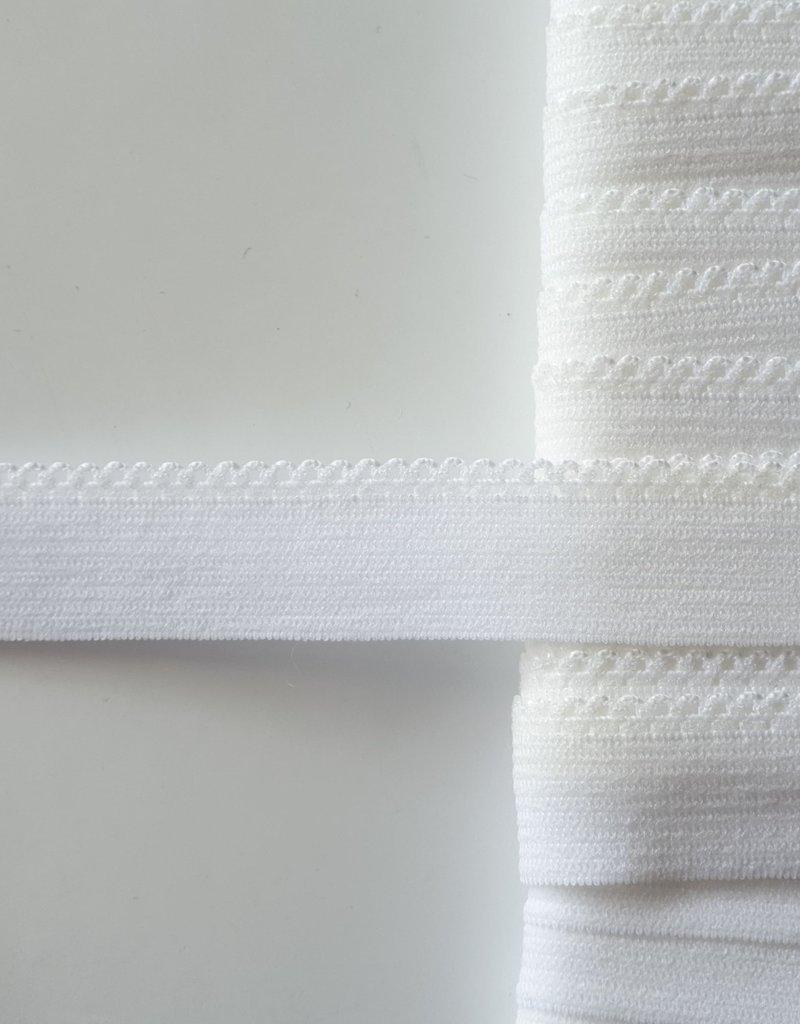 Schulpelastiek wit 15 mm