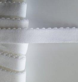 Picot elastiek 15 mm wit