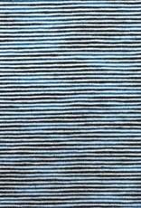 Gestreepte tricot blauw/licht blauw