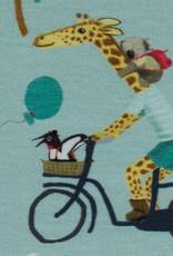 Giraffen op de fiets