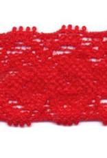 Elastische kant rood 22 mm