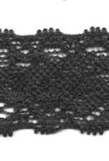 Elastische kant zwart 22 mm