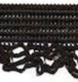 Elastisch kantje zwart