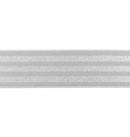 Elastiek   3 strepen grijs/zilver