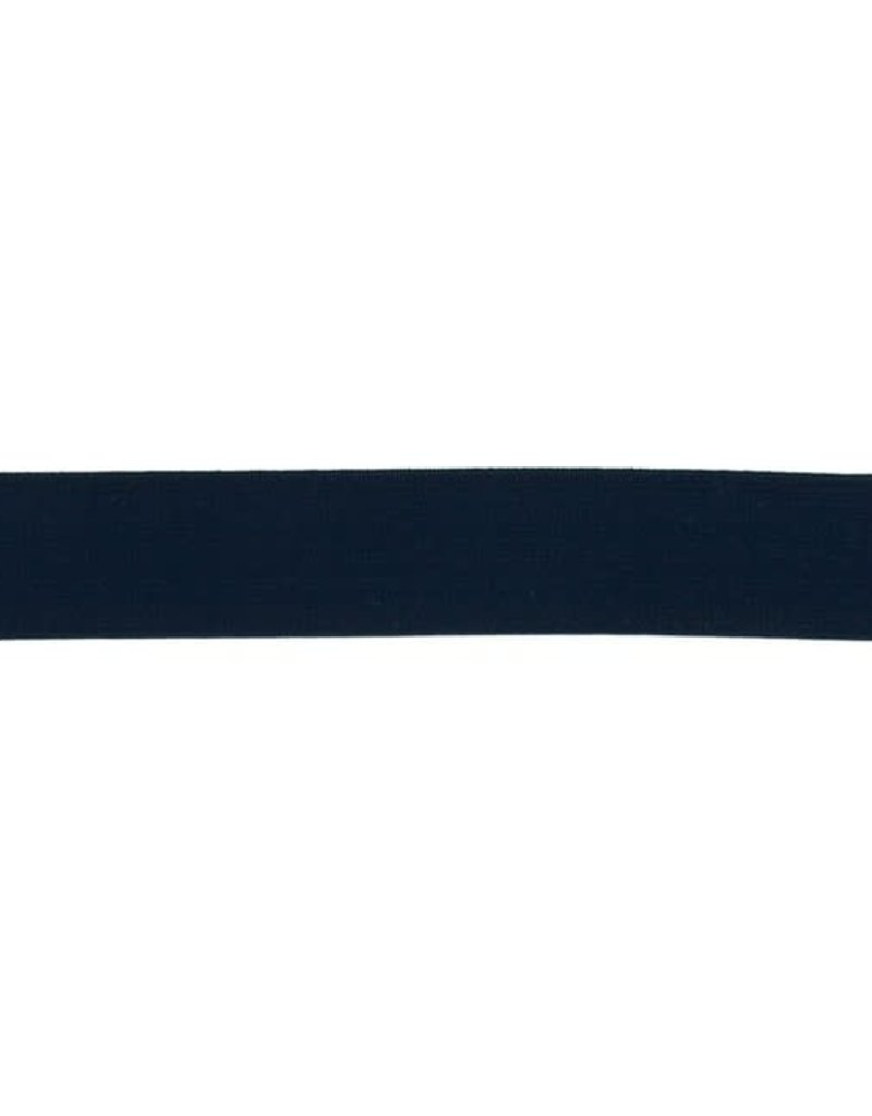 Elastiek uni blauw 25 mm