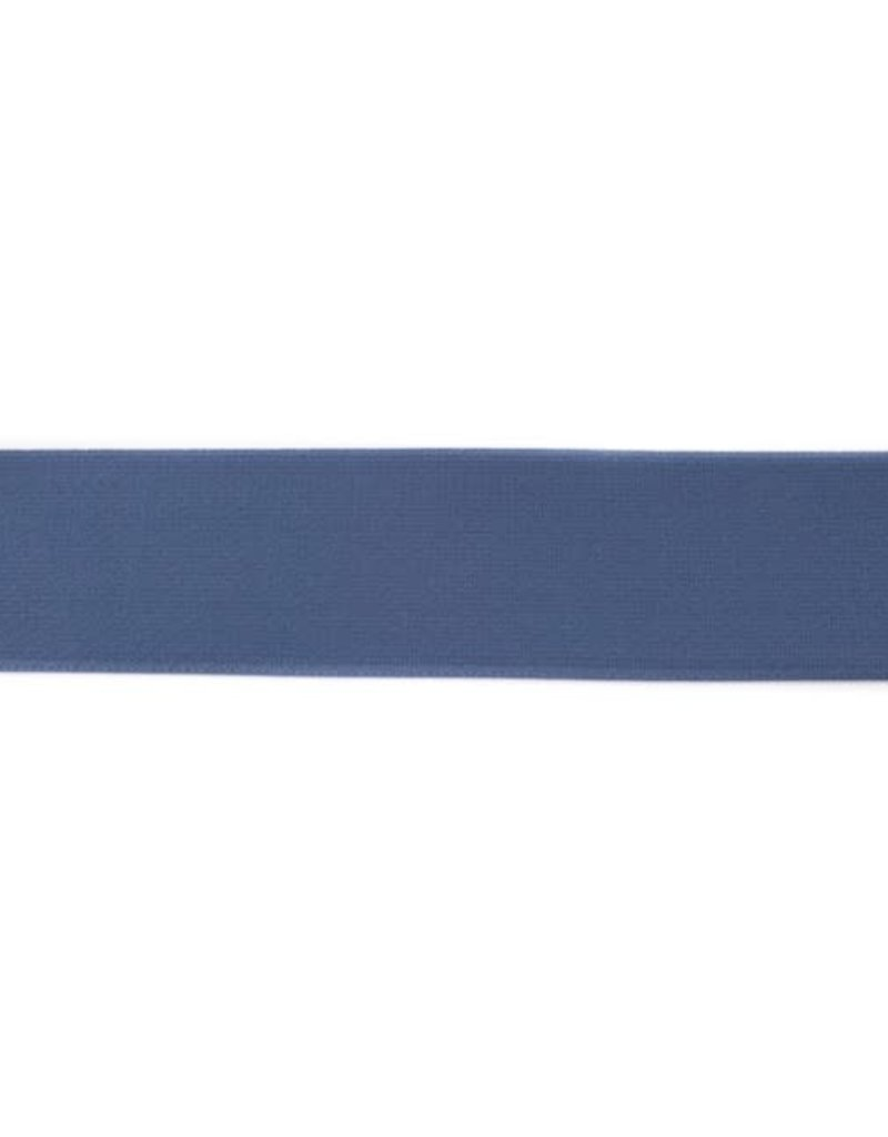 Elastiek colour line blauw 40 mm