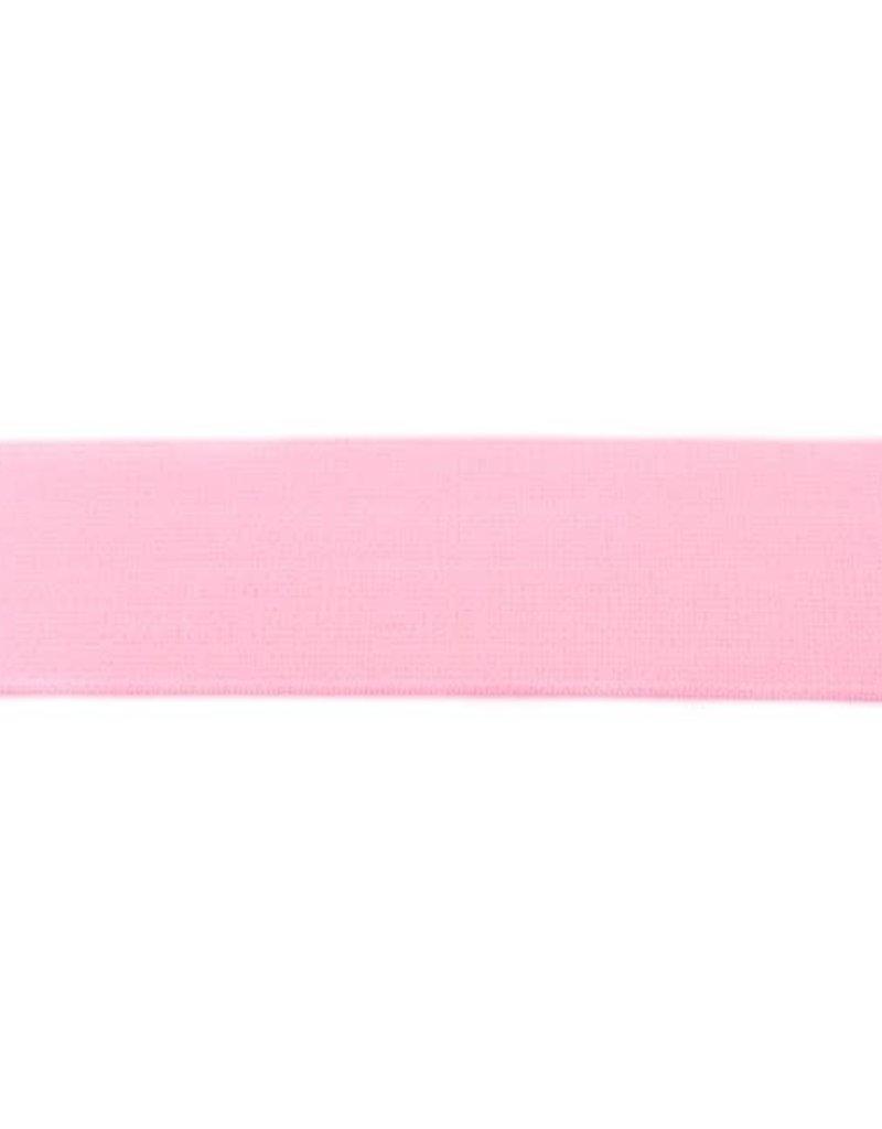 Elastiek colour uni line  40 mm roze