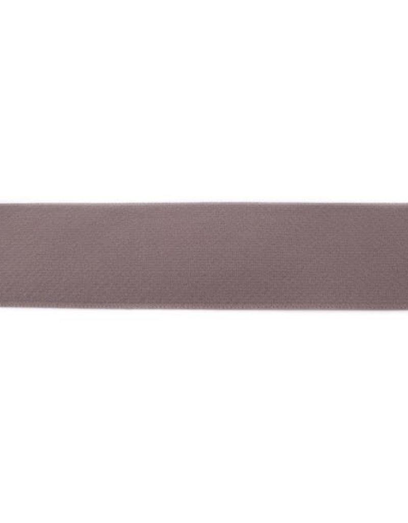Elastiek colour uni line  40 mm taupe