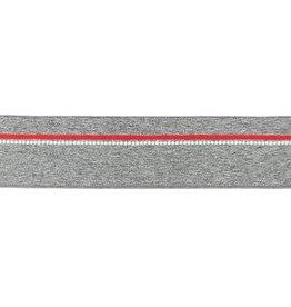 Elastiek melange grijs 40 mm
