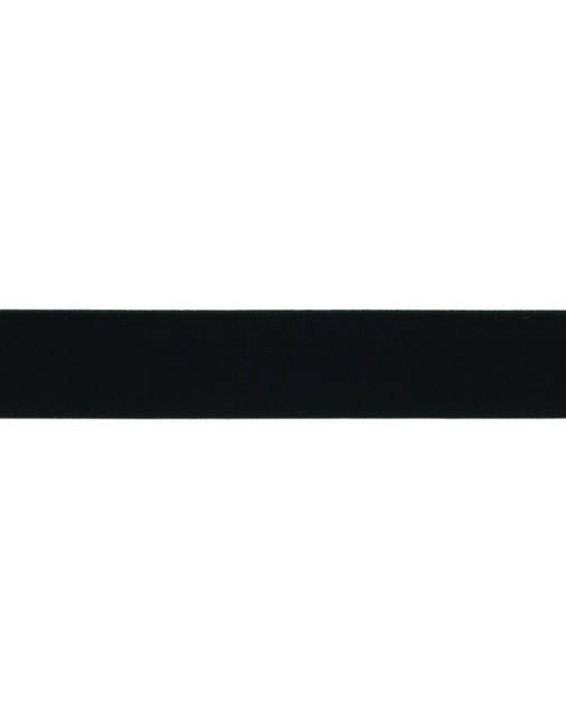 Elastiek soepel 20 mm zwart