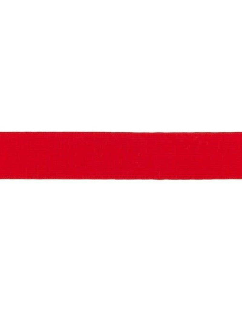 Elastiek soepel 20 mm rood