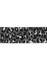 Elastiek tijgerprint grijs