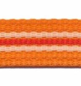 Tassenband  oranje met streep