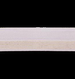 2 kleurig elastisch biaislint lila