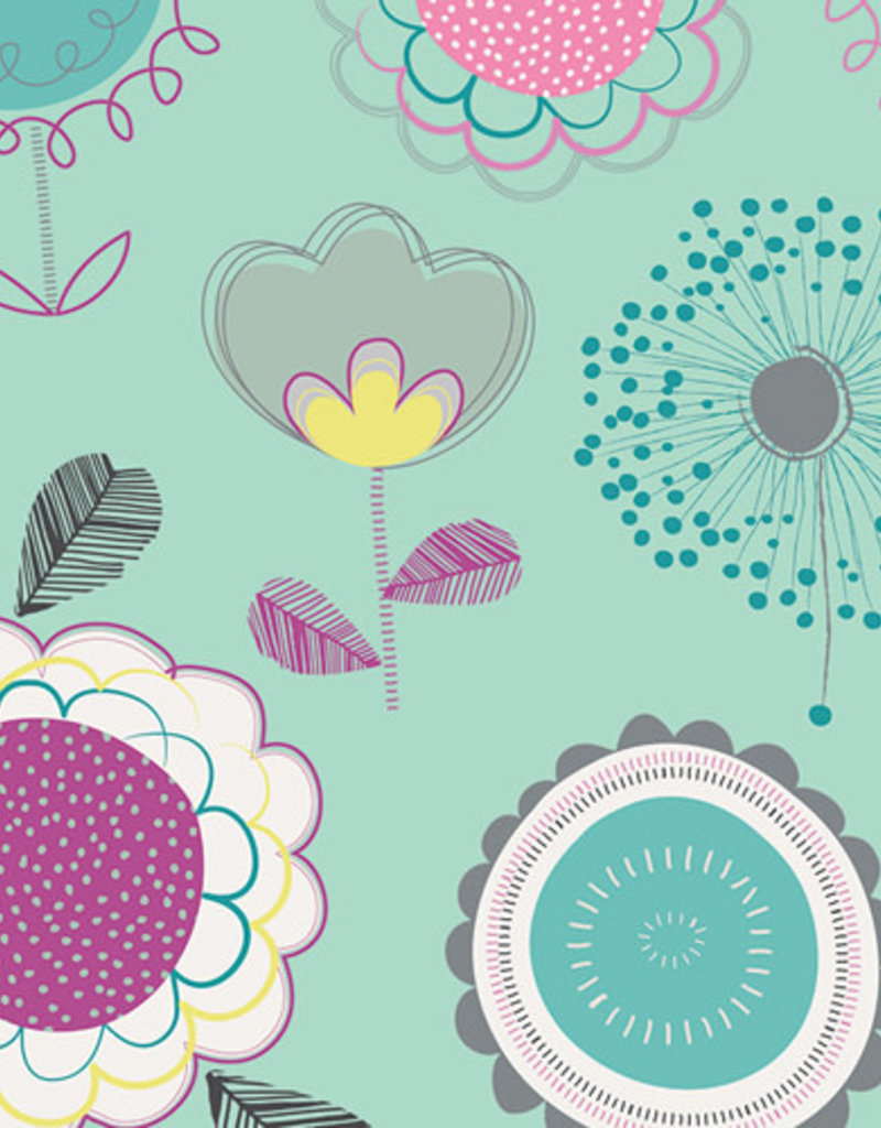 Art Gallery Fabrics AGF Playing Pop 'Floral Dums Gum'