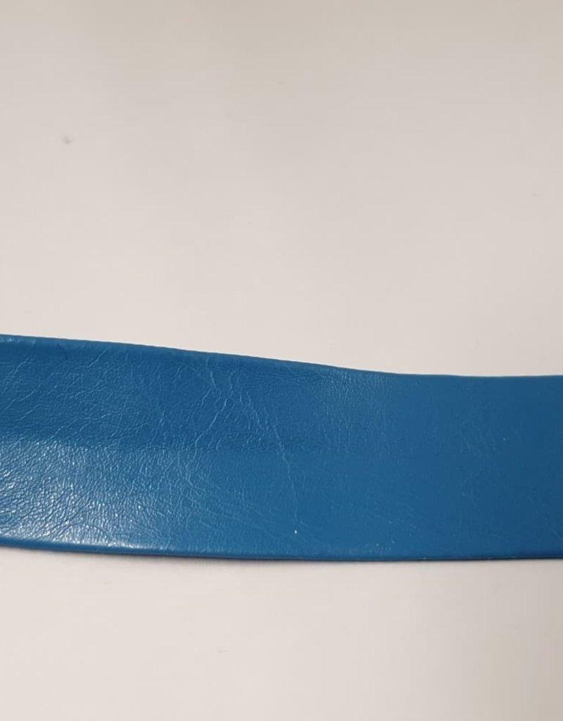 Biais lederimitatie blauw