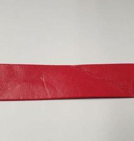 Biais lederimitatie rood